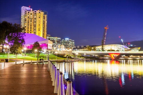 adelaide downturn at night